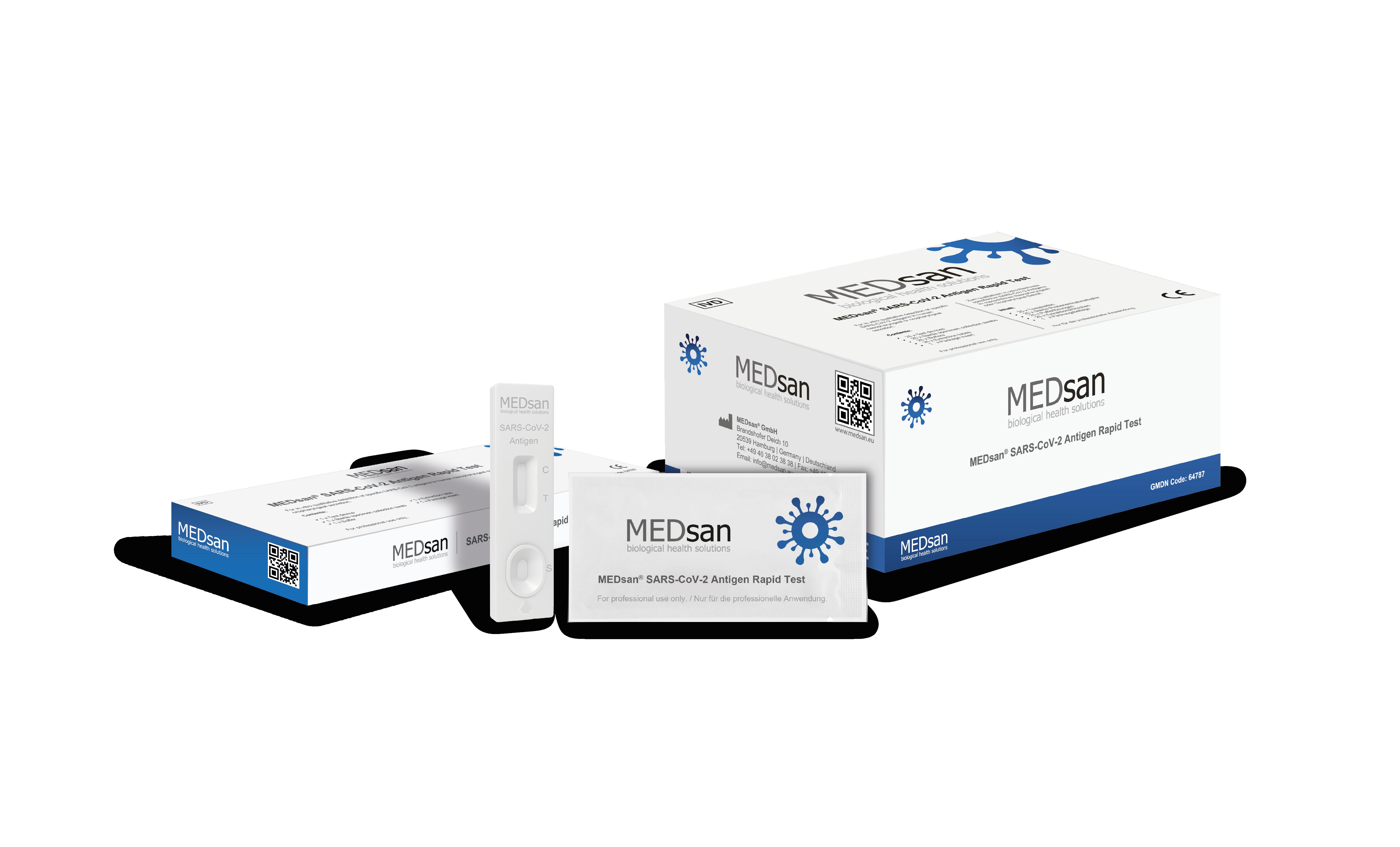 MEDsan® SARS-CoV-2 Antigen Rapid Test (professional use only)