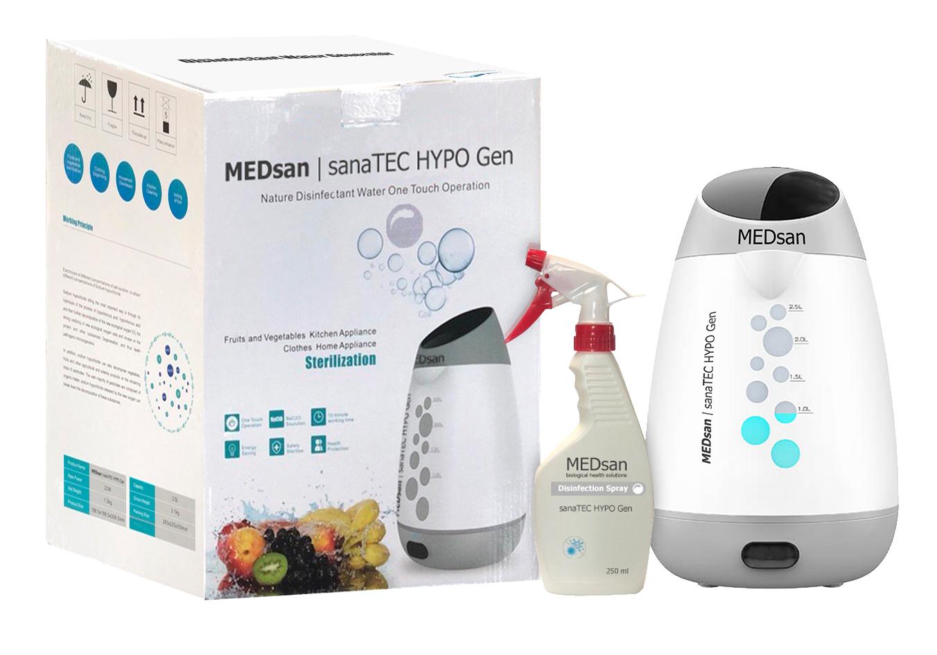 sanaTEC HYPO Gen - Homemade Disinfection